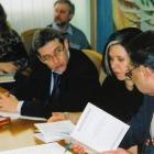 На десятых чтениях, 2005.  Слева направо: Ю.Коваленко, Е.Русабров, Я.Лившиц, Е.Андрущенко, Л.Фризман